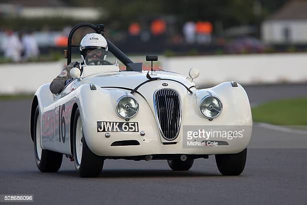 Jaguar XK 120 driven by Derek Hood in the Fordwater Trophy race