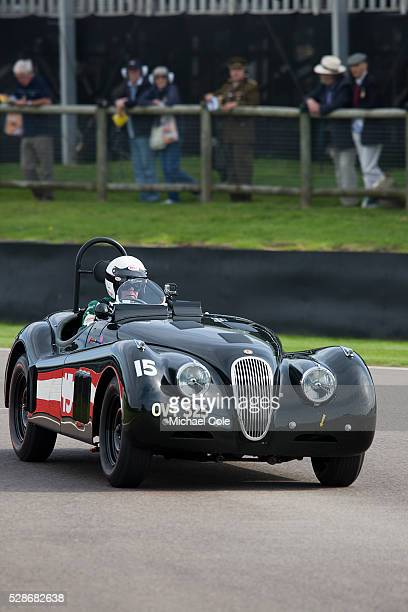 Jaguar XK 120 driven by John Young during the Fordwater Trophy race