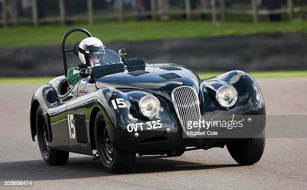 Jaguar XK 120 driven by John Young in the Fordwater Trophy race