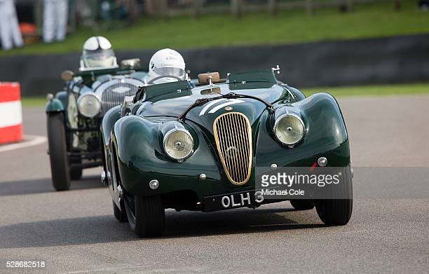 Jaguar XK 120 driven by Nick Finburgh during the Fordwater Trophy race