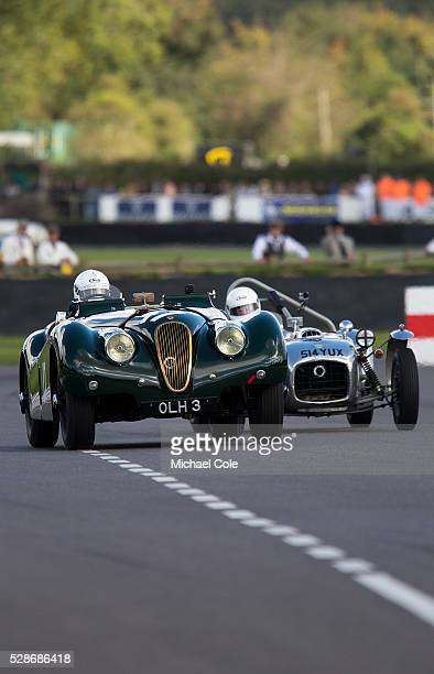 Jaguar XK 120 driven by Nick Finburgh in the Fordwater Trophy race