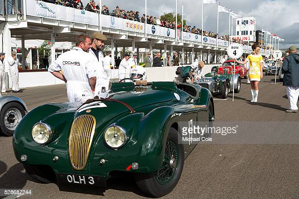 Jaguar XK 120 driven by Nick Finburgh on the start line for the Fordwater Trophy race