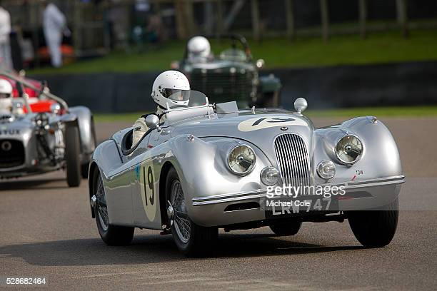 Jaguar XK 120 during the Fordwater Trophy race