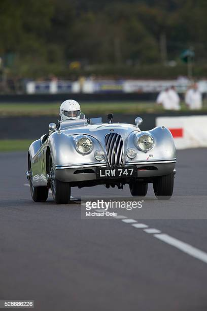 Jaguar XK 120 in the Fordwater Trophy race