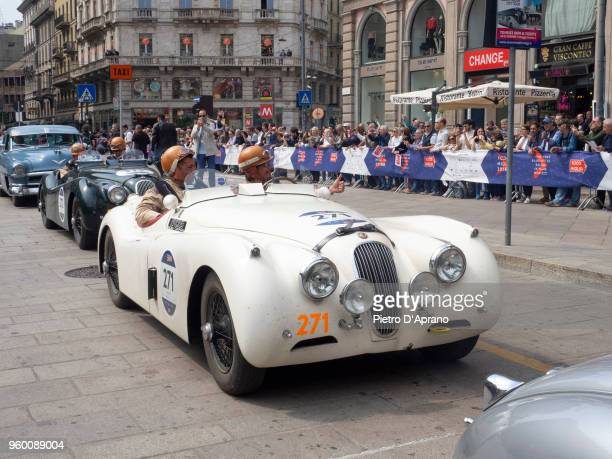 Jaguar XK 120 OTS SE during 1000 Miles Historic Road Race on May 19 2018 in Milan Italy