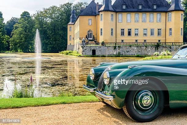 "jaguar xk 120 roadster classic car - ""sjoerd van der wal"" or ""sjo"" stock pictures, royalty-free photos & images"