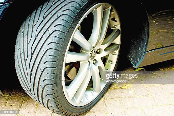 Jaguar XK convertible front tyre
