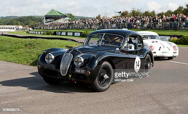 Jaguar XK140 Fordwater Trophy race at The Goodwood Revival Meeting 15th Sept 2013