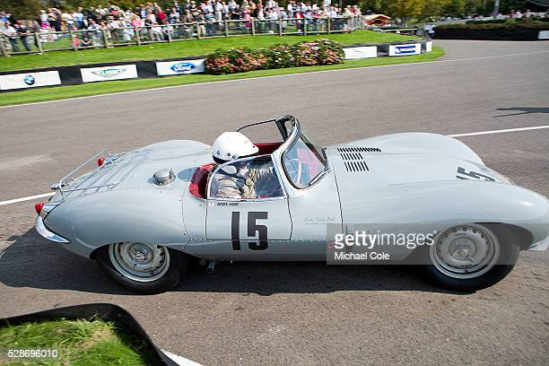 Jaguar XKSS driven by Derek Hood in The Lavant Cup at the Goodwood Revival Meeting 12th Sept 2014