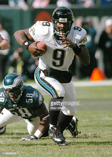Jaguars quarterback David Garrard in action during game against the Philadelphia Eagles at Lincoln Financial Field in Philadelphia Pennsylvania on...