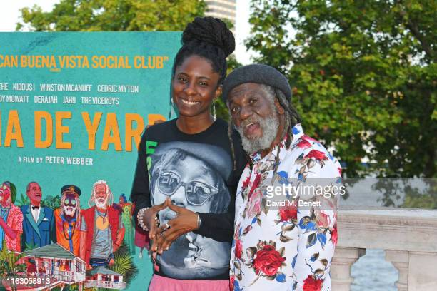 Jah9 and Winston McAnuff attend the UK Premiere and Film4 Summer Screen closing night screening of Inna De Yard at Somerset House on August 21 2019...