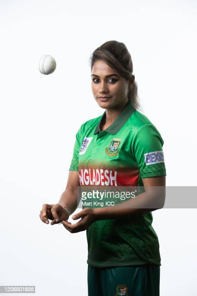 Jahanara Alam poses during the Bangladesh 2020 ICC Women's T20 World Cup headshots session at Allan Border Field on February 16 2020 in Brisbane...