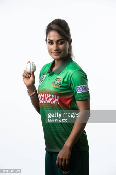 Jahanara Alam poses during the Bangladesh 2020 ICC Women's T20 World Cup headshots session at Allan Border Field on February 16, 2020 in Brisbane,...