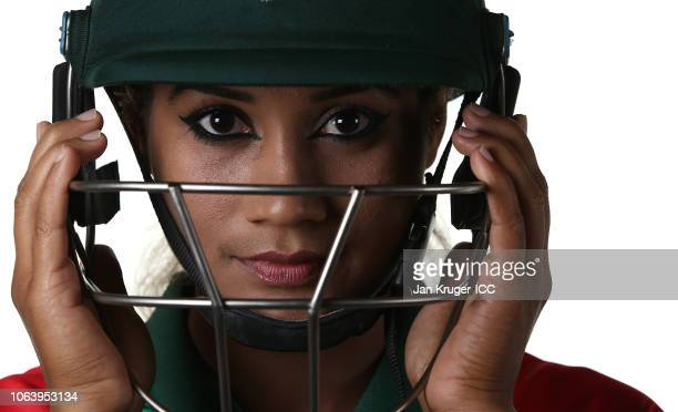 Jahanara Alam poses during the Bangladesh Portraits session ahead of the ICC Women's World T20 2018 tournament on November 05 2018 in Georgetown...