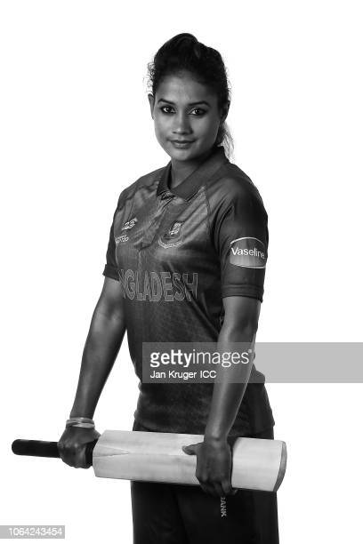 Jahanara Alam poses during the Bangladesh Portraits session ahead of the ICC Women's World T20 2018 tournament poses during the Bangladesh Portraits...