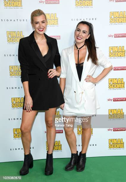 Jahannah James and Sophie Craig attend the World Premiere of Final Score at Ham Yard Hotel on August 30 2018 in London England