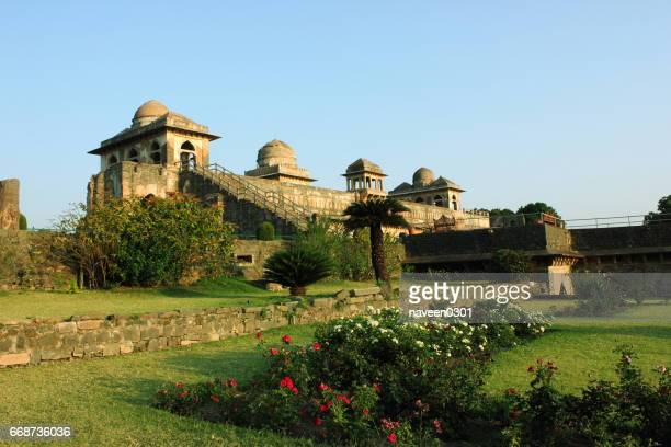 jahaz mahal/ship palace  in mandu, india - indore stock photos and pictures