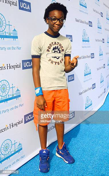 Jaheem Tombs arrives at Mattel Children's Hospital UCLA 16th Annual Party On The Pier Fundraiser at Santa Monica Pier on September 27 2015 in Santa...