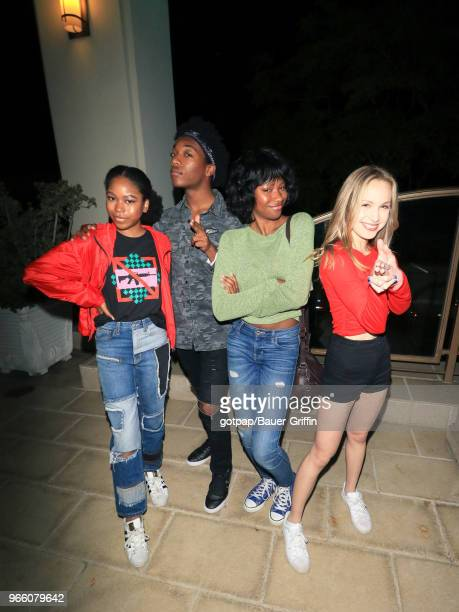 Jaheem Toombs Brady Reiter Riele Downs and Reiya Downs are seen on June 01 2018 in Los Angeles California