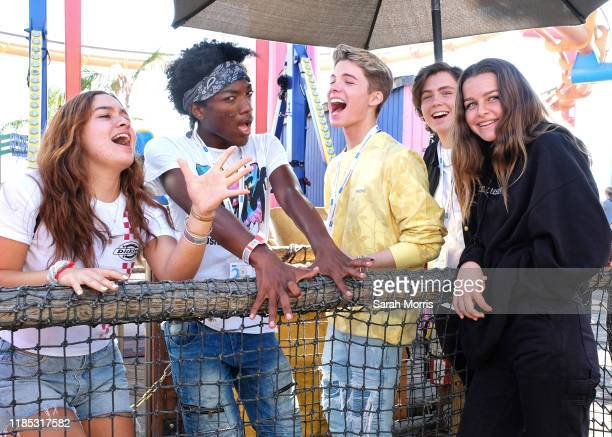 Jaheem Toombs Connor Finnerty and Tarik Ellinger attend UCLA Mattel Children's Hospital's 20th Annual Party on the Pier at Pacific Park – Santa...