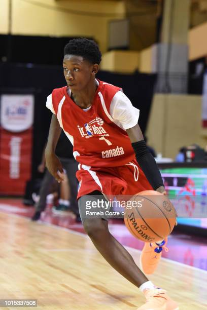 Jahliel Smart of Canada Boys handles the ball against Africa Middle East Boys during the Jr NBA World Championship International Finals on August 11...