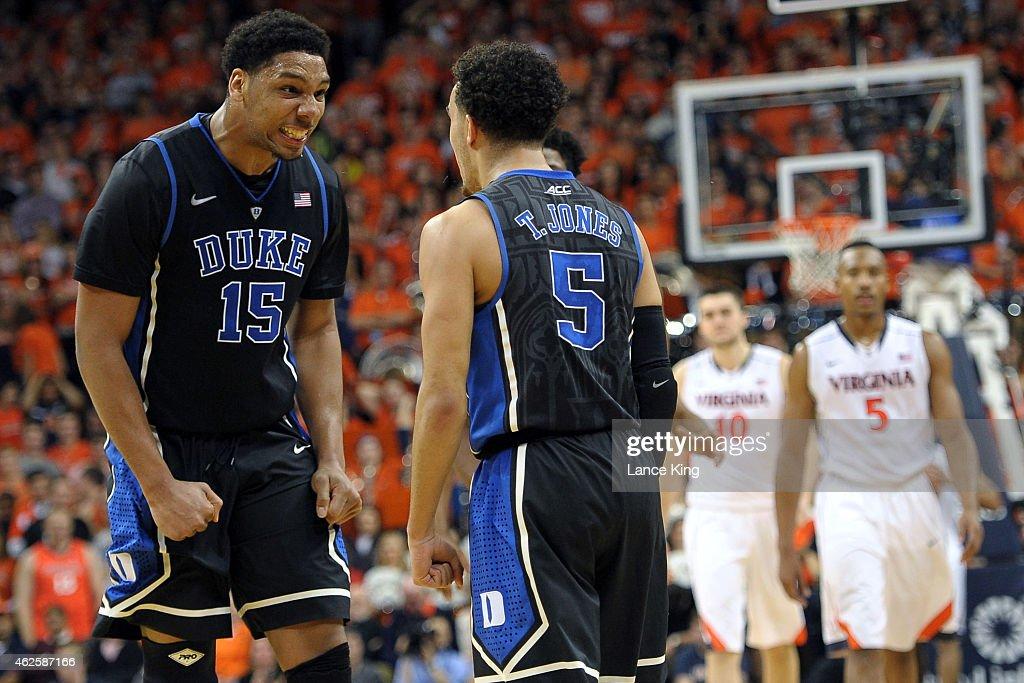 Duke v Virginia : News Photo