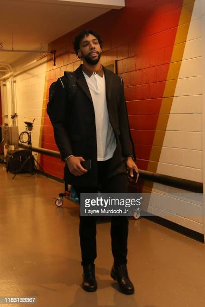 Jahlil Okafor of the New Orleans Pelicans arrives to the game against the Golden State Warriors on November 17 2019 at the Smoothie King Center in...