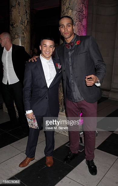Jahmene Douglas and Ashley Banjo attend an after party following the Cosmopolitan Ultimate Woman of the Year awards at the Mahiki Bar inside the...