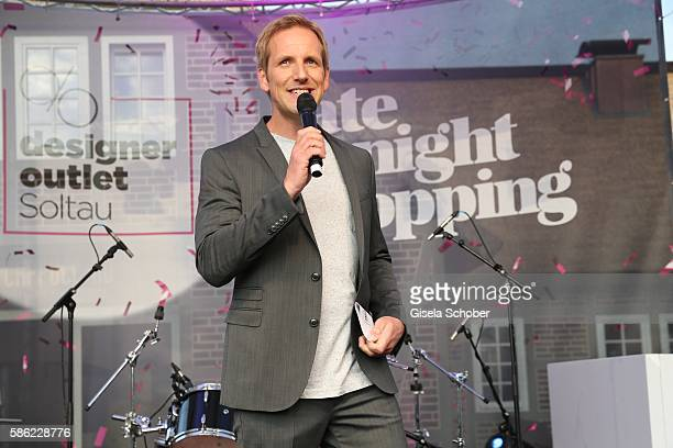 Jahn Hahn during the late night shopping at Designer Outlet Soltau on August 5 2016 in Soltau Germany