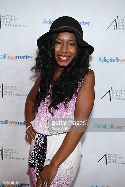 Jahnee Wallace attends #DigitalLivesMatter Atlanta screening at Regal Atlantic Station on August 24 2016 in Atlanta Georgia