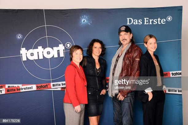 Jahre Lena-Odenthal-Tatort Fototermin am in Hamburg Darsteller : Annalena Schmidt, Ulrike Folkerts, Andreas Hoppe, Lisa Bitter
