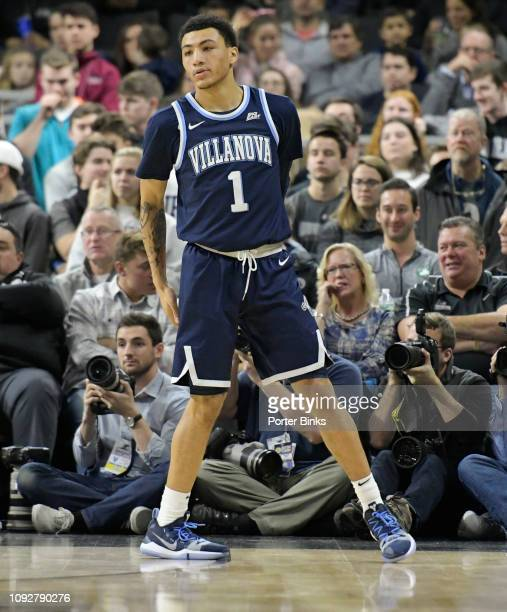 Jahvon Quinerly of the Villanova Wildcats during the game against the Providence Friars at Dunkin' Donuts Center on January 5 2019 in Providence RI