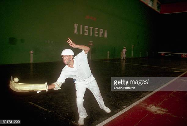 Jai Alai Player Catching Ball