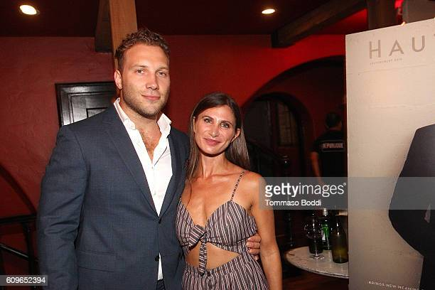 Jai Courtney and Laura Schreffler attend the Haute Living cover celebration dinner for Jai Courtney presented by Tanquery at Republique on September...