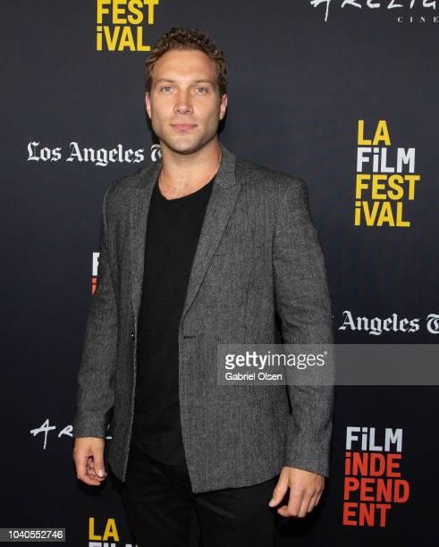Jai Courtney arrives at the 2018 LA Film Festival Gala Screening of 'The Oath' at ArcLight Hollywood on September 25 2018 in Hollywood California