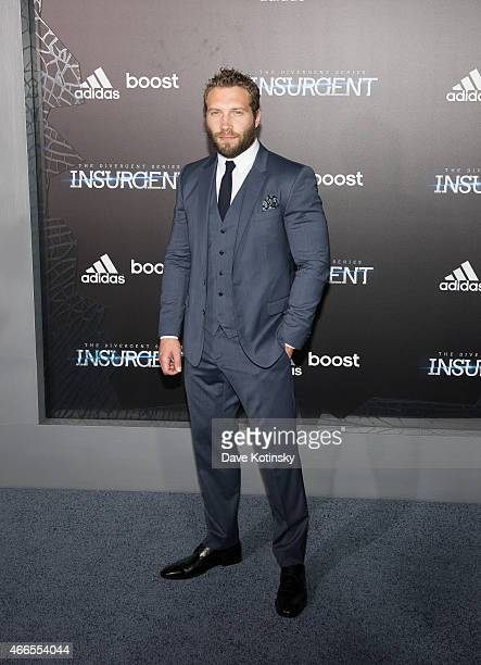 Jai Courtney arrives at the The Divergent Series Insurgent New York premiere at Ziegfeld Theater on March 16 2015 in New York City