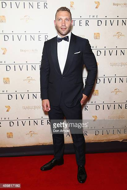 Jai Courtney arrives at the World Premier of The Water Diviner at State Theatre on December 2 2014 in Sydney Australia