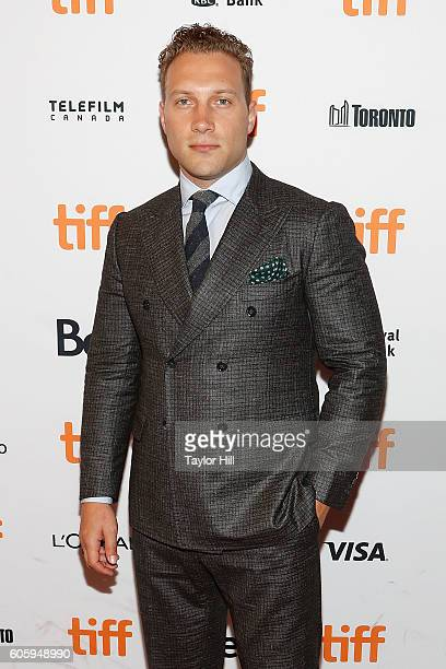 Jai Courtney attends the premiere of 'The Exception' during the 2016 Toronto International Film Festival at Winter Garden Theatre on September 15...