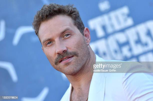 """Jai Courtney attends Warner Bros. Premiere of """"The Suicide Squad"""" at The Landmark Westwood on August 02, 2021 in Los Angeles, California."""