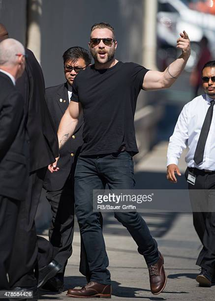 Jai Courtney is seen at the 'Jimmy Kimmel Live' show on June 25 2015 in Los Angeles California