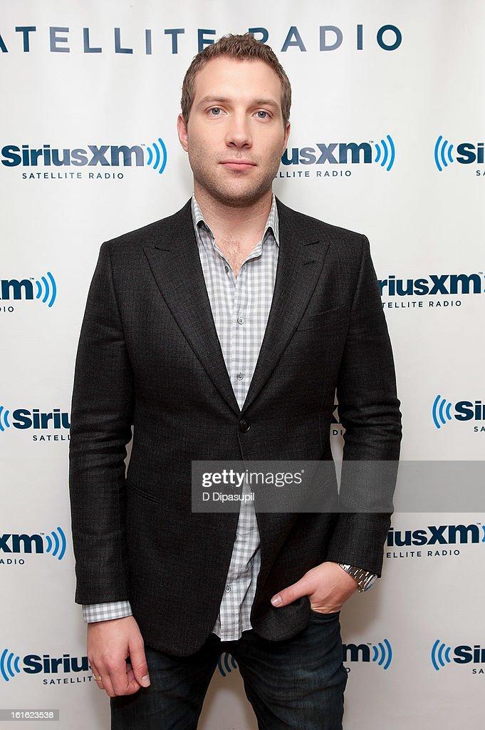 Jai Courtney visits SiriusXM Studios on February 13, 2013 in New York City.