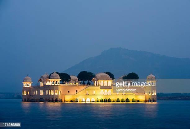Jai Mahal Palace Illuminated at sun down