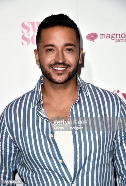 """Jai Rodriguez attends the premiere of Magnolia Pictures' """"Swan Song"""" at iPic Theaters on August 05, 2021 in Los Angeles, California."""