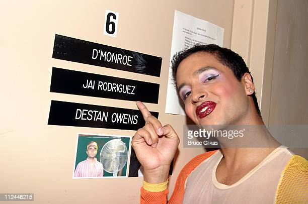 Jai Rodriguez during 'Queer Eye for The Straight Guy' Star Jai Rodriguez Backstage at 'RENT' on Broadway at The Nederlander Theater in New York New...