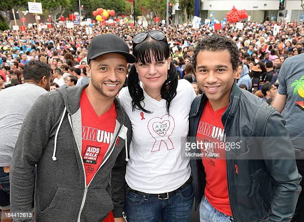 Jai Rodriguez Pauley Perette and Corbin Bleu attend the 29th Annual AIDS Walk Los Angeles on October 13 2013 in West Hollywood California