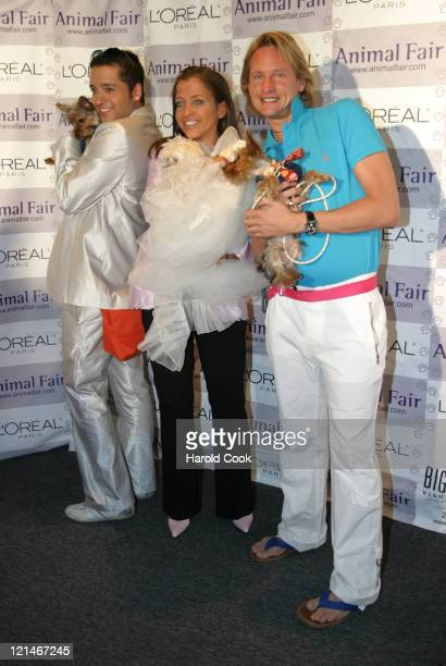 Jai Rodriguez Wendy Diamond Carson Kressley during Animal Fair Magazine's 5th Annual 'Paws for Style' Event at Club Black in New York City New York...