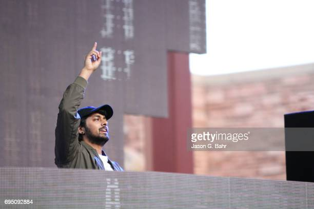 Jai Wolf performs at Red Rocks Amphitheatre on June 11 2017 in Morrison Colorado