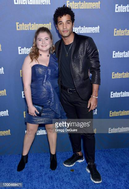 Jaicy Elliot and Devin Way attend the Entertainment Weekly PreSAG Celebration at Chateau Marmont on January 18 2020 in Los Angeles California