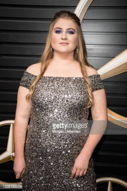 Jaicy Elliot arrives at the 2020 MercedesBenz Annual Academy Viewing Party at Four Seasons Los Angeles at Beverly Hills on February 09 2020 in Los...