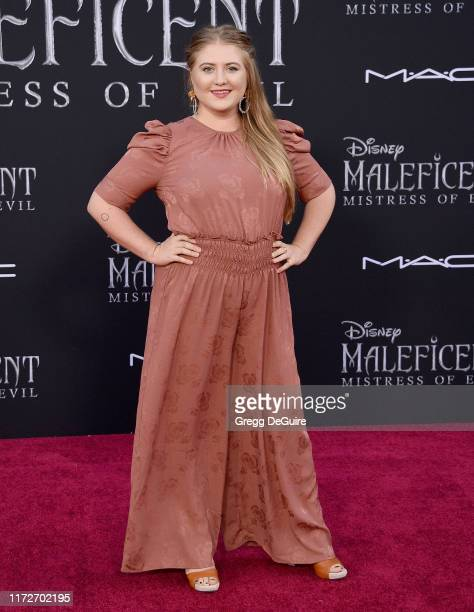 Jaicy Elliot arrives at the World Premiere Of Disney's Maleficent Mistress Of Evil at El Capitan Theatre on September 30 2019 in Los Angeles...